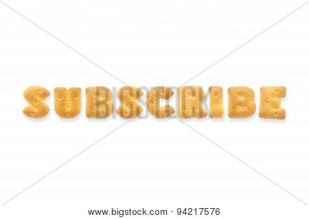 The Letter Word Subscribe Alphabet  Cookie Cracker
