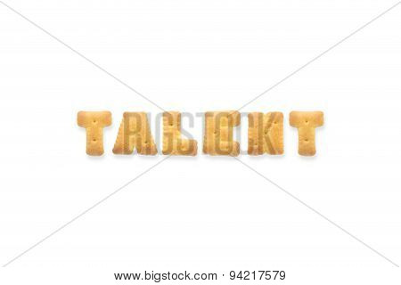 The Letter Word Talent Alphabet  Cookie Biscuits
