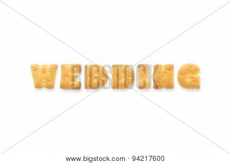 The Letter Word Wedding. Alphabet  Cookie Biscuits