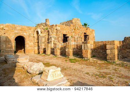 Ancient Ruins Roman Empire, Side, Turkey, Archeology Background