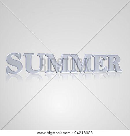 3D Text Summer