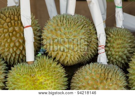 Durian in fresh fruit market