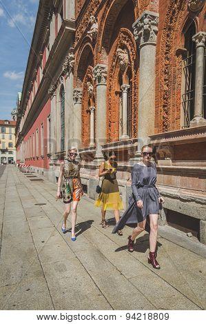 People Outside Missoni Fashion Show Building For Milan Men's Fashion Week