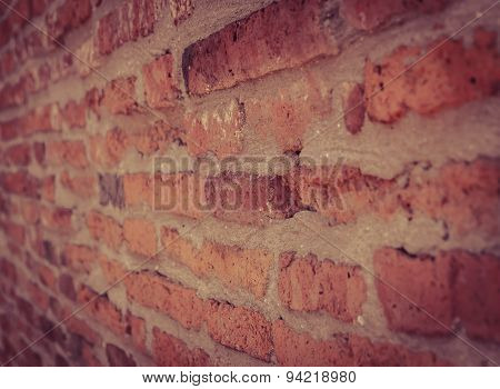 Old Brick Wall Background Perspective