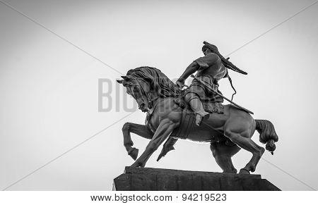 Salavat Yulaev Statue In Ufa Russia