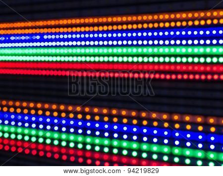 Rows Of Illuminated Led Lights