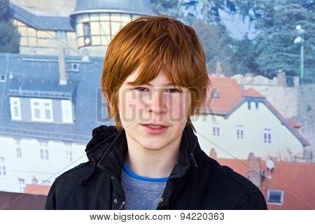 Portrait Of Cute Young Boy