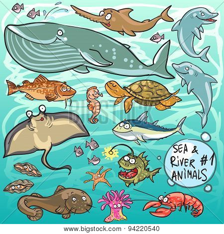 Sea and river animals - part 1.