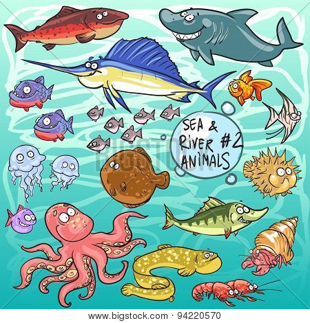 Sea and river animals - part 2
