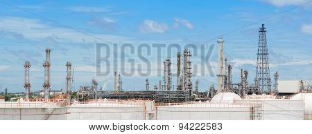 Oil Refinery Or Petrochemical Industry Plant