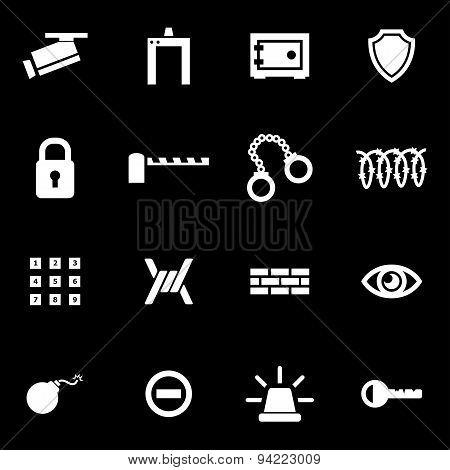 Vector white security icon set