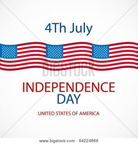 Independence Day American Signs Hanging With Chain, Vector Illustration