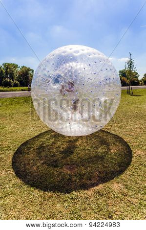Child Has Fun In The plastic Ball