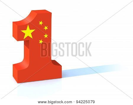 Number One With China Flag