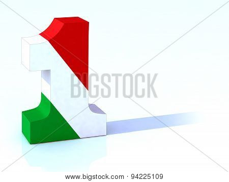 One made with Italian Flag
