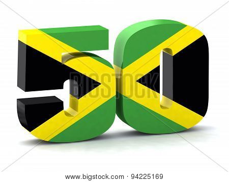 Number 50 Made With Jamaican Flag