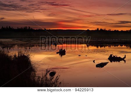 Sunset Duralia Lake Penrith