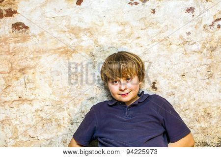 Boy In The  Cellar With A Spotlight