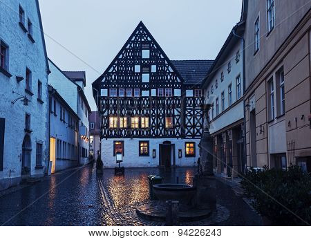 Old Town Of Weimar At Sunrise