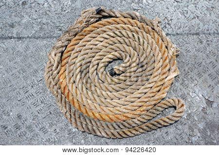Mooring rope winder in order.