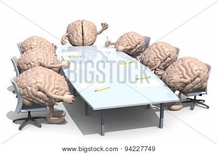 Many Human Brains Meeting Around The Table