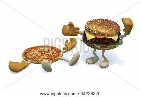 Pizza Vs Hamburger: The Winner Is Hamburge