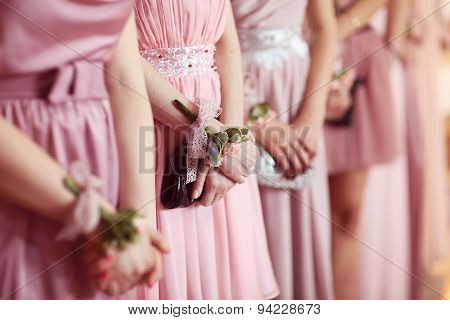 Hands Of Bridesmaid
