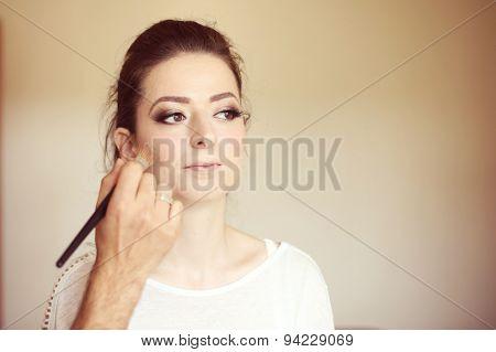 Beautiful Woman At Make Up Studio