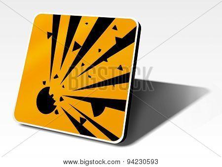 Explosion Warning Sign