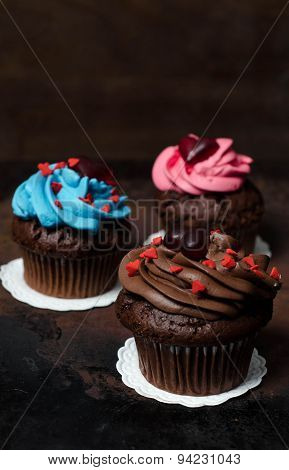 Cupcake With Mini-hearts
