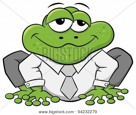 Business Frog With Shirt And Tie