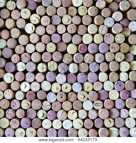 Wine corks, may be used as background