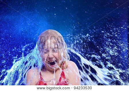 Surprised Girl And Water