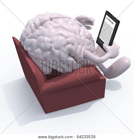 Brain Organ Reading A Electronic Book