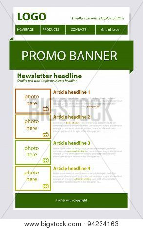 Newsletter Green Template With Spring Colors