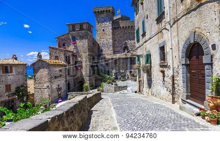 Bolsena village and castle - beautiful medieval borgo in Italy