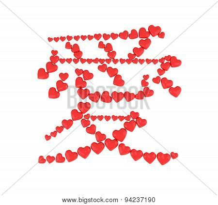 Asian Ideogram With Heart