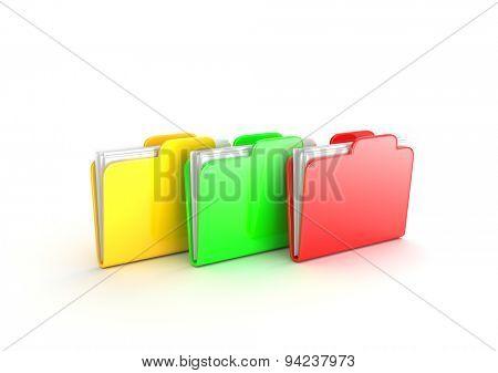 Multicolored folders