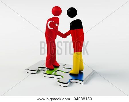 Business Partners Germany and Turkey