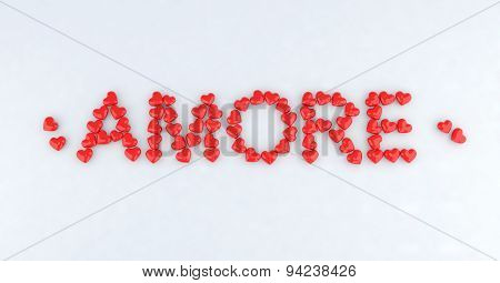 Written Amore With Little Hearts
