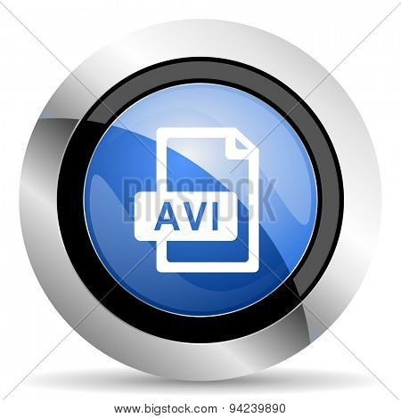 avi file icon original modern design for web and mobile app on white background