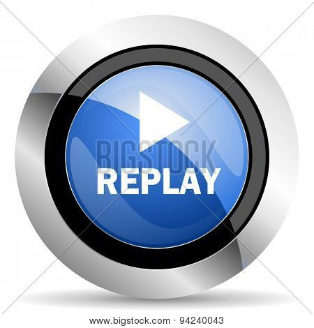 replay icon original modern design for web and mobile app on white background