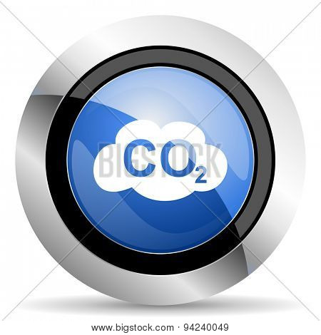 carbon dioxide icon co2 sign original modern design for web and mobile app on white background