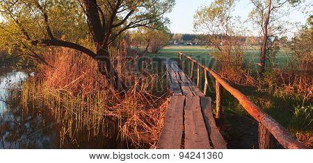 Rural Landscape With Bridge