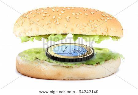 Sandwich Stuffed With A One Euro