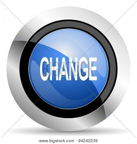 change icon original modern design for web and mobile app on white background