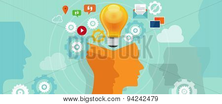information overload data idea gear head lamp bulb