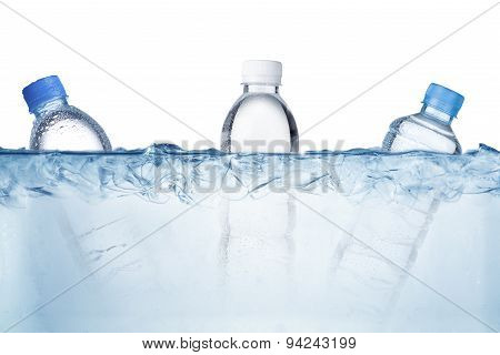 Water Bottle In Ice Cubes