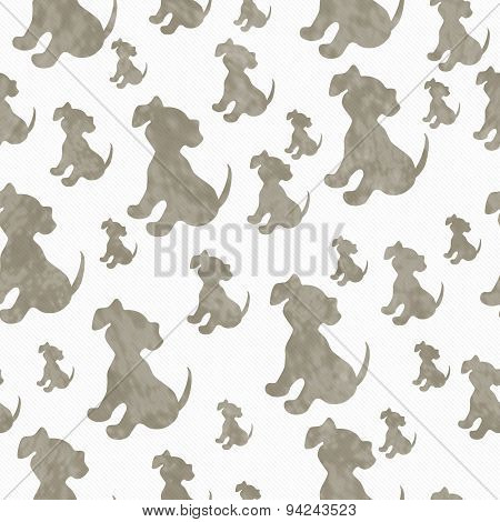 Brown And White Puppy Dog Tile Pattern Repeat Background