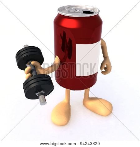 Tin Can With Arms And Weight